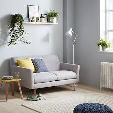 Archie Small 2 Seater Sofa, Light Leg, Saga Grey
