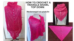 Youtube Crochet Patterns Custom CROCHET TRIANGLE SHAWL Pattern Works TOP DOWN Free Crochet Video