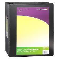 Binder 3 Inch Wexford Heavy Duty View Binder 3 Inch Assorted Walgreens