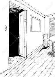 テーブルと椅子を部屋の背景漫画を概説