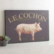 le cochon wall decor on wooden pig wall art with large wooden pig wall art set of 2 wall art sets farm kitchen