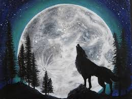 wolf howling painting. Modren Painting Image 0 In Wolf Howling Painting N
