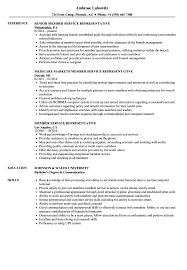 Member Service Representative Resume Samples Velvet Jobs