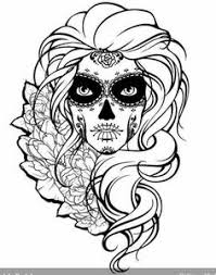 38 Girl Skull Coloring Pages Sugar Skull Coloring Pages