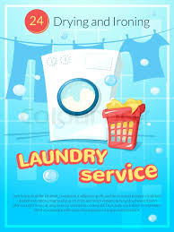 Service Advertisement Laundry Service Advertising Poster Stock Vector Colourbox