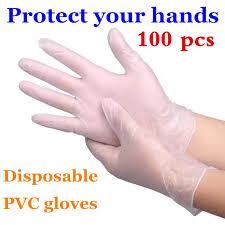 Transparent Prevent Bacteria Multifunction Kitchen <b>100 Pcs PVC</b> ...