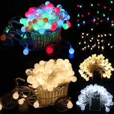 Led Round Ball Christmas Lights Us 1 79 28 Off Fairy Led String Lights Christmas Round Ball Blubs Wedding Party Lamp Merry Christmas Decoration Led New Year 2019 Party Poduszk In