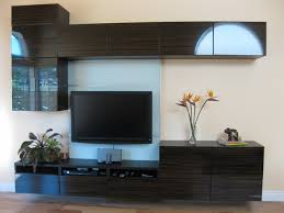 my new floating wall unit modern living room