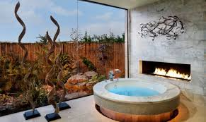 Bathroom With Hot Tub Interior Custom Design Ideas