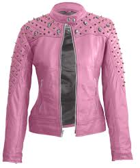 est women black shoulder quilted with gold studs and skeletons genuine leather jacket leather