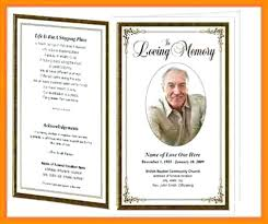 Funeral Service Templates Word Best Free Memorial Service Program Template Sample Catholic Funeral