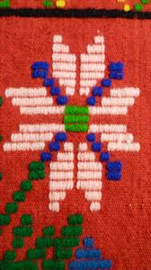 antique hand loomed hand embroidered