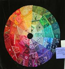 Crazy color wheel, Washington State Quilters - Spokane Chapter ... & Crazy Color Wheel- Washington State Quilters, Spokane Chapter,