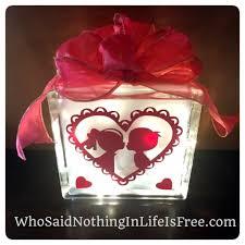 diy valentine s glass block with lights