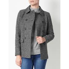john lewis herringbone pea coat grey herringbone 53 wool 27 polyester