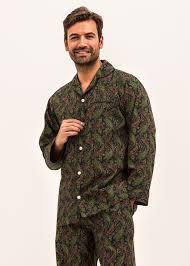 Mens Designer Pyjamas Midnight Blue Paisley Pyjamas