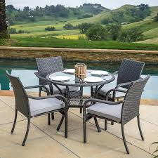 5 piece patio furniture patio furniture sets on patio furniture halsted 5 piece wicker small