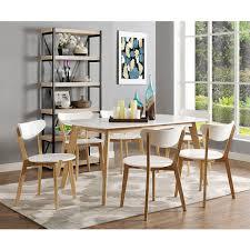 60 Inch Retro Modern Wood Dining Table By Walker Edison