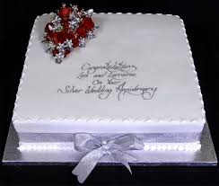 Wedding Cakes Simple Square Wedding Anniversary Cake