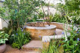 Small Picture Outdoor circular room and garden landscape Plant Flower Stock