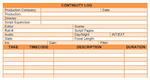 script breakdown sheet continuity log added free stuff download free continuity log here