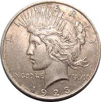 1923 Peace Silver Dollar Value Chart 1923 S Peace Dollar Value Cointrackers