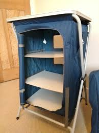 Fold Up Shelf Trespass Quick Fold 3 Shelf Zip Up Storage Unit For Camping Or