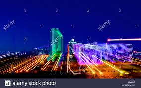 Downtown Dallas Purple Lights Dallas Tx December 10 2017 Downtown Dallas Skyline