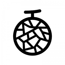 メロンのシルエット04 無料のaipng白黒シルエットイラスト