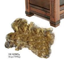 sheepskin rug light wolf coyote skin carpet pelt throw rug faux fur accents 79 99 pic