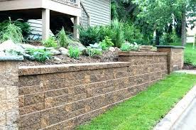 decorative retaining wall ideas garden wall ideas together with cinder block garden wall garden pictures