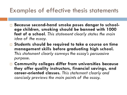 writing a thesis and topic sentences courtesy of the writing  examples of effective thesis statements  because second hand smoke poses danger to school