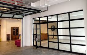interior garage door1st Floor Flex Space glass wall option  Clear Glass Garage Doors