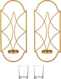 2pcs metal wall sconce candle holder