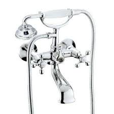 2 handle 1 spray tub and shower faucet with porcelain