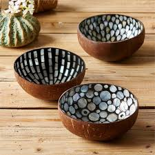 Tozai Pearl & Coconut Bowl Teardrop Bowls - Assorted 3 Designs - Set Of 9  ...