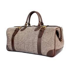 brown herringbone leather doctor bags