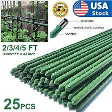 usa 25pcs 2 3 4 5ft metal garden plant