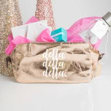 alpha epsilon phi large cosmetic bag