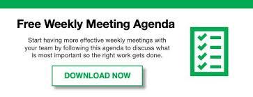 Work Meeting Agenda How To Run Effective Weekly Staff Meetings With Sample