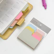 6 Color Notebook Note Index Paper Card Sticker Cute Sticky Note Post