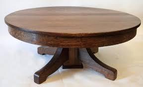 decoration gorgeous antique round coffee table with oak watts retro uk