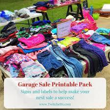 Garage Sale Kit Yard Sale Printable Pack Garage Sale Signs Rummage Sale Signs Yard Sale Signs Pricing Labels Sale Display Signs