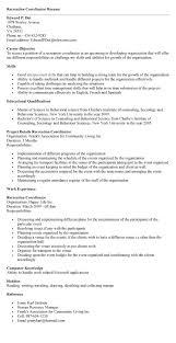 recreation coordinator cover letter endearing recreation programmer sample resume also programmer cover