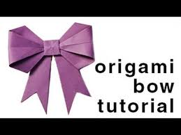 Origami How To Fold A Paper Bow Ribbon Paper Kawaii