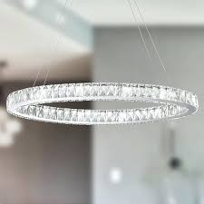 crystal ring chandelier galaxy led light chrome finish and clear crystal oval ring chandelier crystal 3