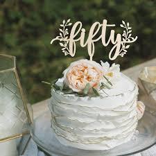 Birthday Cake Topper 50th Birthday Cake Topper Happy Etsy