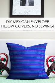 diy envelope pillow cover project the best part you don t need to
