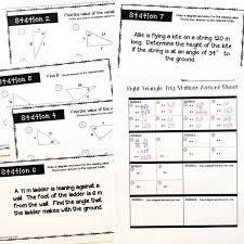 Right Triangle Trig Stations Activity | Trigonometry, Algebra and ...