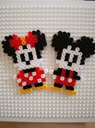 Perler Beads Mickey Mouse Designs Mickey And Minnie Mouse Perler Bead By Mofuruchan On